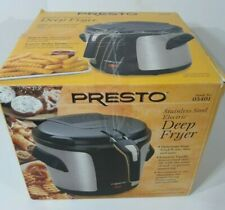 Presto 05401 Stainless Steel Electric Deep Fryer Vented, Easy Plug In And Use