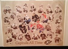 1974-2003 Washington Capitals All Time Greats Lithograph Stadium Giveaway