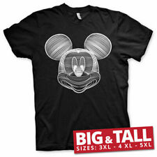 Officially Licensed Mickey Mouse Line Art Big & Tall 3XL, 4XL, 5XL Men's T-Shirt
