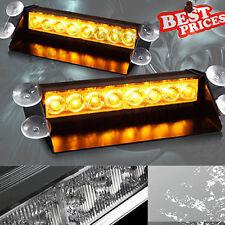 8 LED Fire Car Deck Truck Dash Strobe Flash Warning Emergency Lights Amber Color