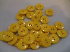 LOT OF 39 YELLOW COLOR 3/4 INCH 2 HOLE BUTTONS, NEW