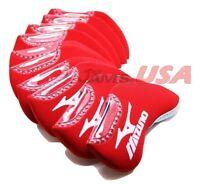 MIZUNO HeadCover 10 pcs Set Golf Iron Head Covers RED Color Neoprene US USA