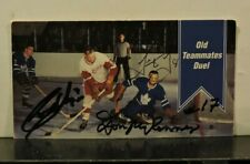 1964-65 Parkhurst Tall Boy #154 Old Teammates Duel Autographed