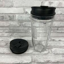 Ninja Auto-iQ Small Single Serve 24 Oz Cup with 2 Lid for NutriNinja Blender