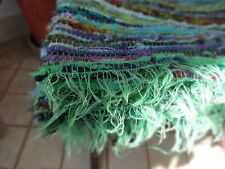 COTTON INDIAN 3'x5' FEET MULTI HANDMADE RAG RUG DARI VINTAGE THROW CHINDI WOOVEN