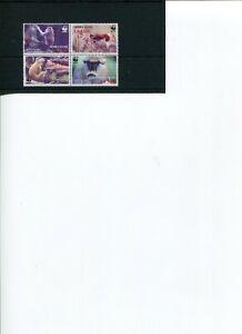 2004 WWF Sierra Leone Patas Monkey 4V Block MNH POST-FREE