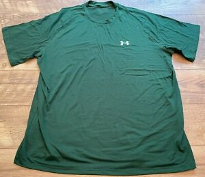 UNDER ARMOUR Dark Green Loose Gym Athletic crossFIT Training Shirt mens XL