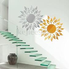 3D Acrylic Sun Mirror Effect Wall Sticker Decal Room Art Mural Decor Removable P