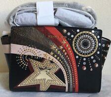 NWT MICHAEL MICHAEL KORS Selma Embellished Medium Leather Messenger Bag $298