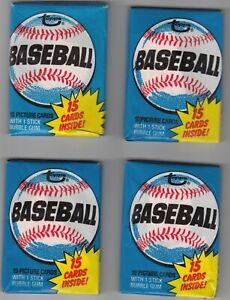 4 NEW Unopened 1980 Topps Baseball wax packs Possible Rickey Henderson Rookie