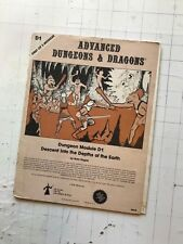 1979 TSR AD&D D1 DESCENT into DEPTHS of the EARTH MODULE 9019 3RD d&d gygax gary