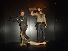 "Mcfarlane The Walking Dead Rick Grimes and Daryll Dixon 10"" Figure Bundle"