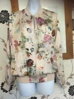 Lovely Ladies New Look Bomber Style Coat Jacket Size 10