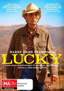 LUCKY – HARRY DEAN STANTON - DVD - REGION-4 NEW AND SEALED-FREE POST AUS-WIDE