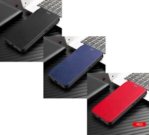3 Magnetic Flip-Stand Cases (1 Black, 1 Blue, 1 Red) for: iPhone 7 / 8 / SE 2020