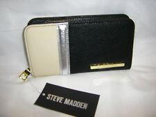 NWT STEVE MADDEN Bone Multi Color Block Zip Around Wallet $44