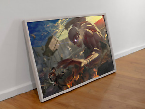 Attack on titan Poster Armored Titan NEW season 4 Manga Art wall Size A4 A3 A2