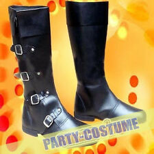 Pure  Medieval Style Long Shoe -Black  Mens Boot Costume