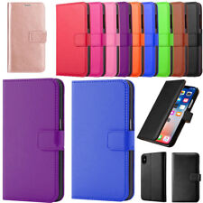 Genuine Real Leather Flip Wallet Case For Apple iPhone 6 7 8 XS & XS Max Cover