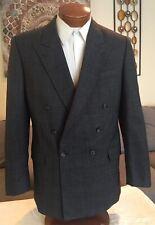 Stunning Scabal DB Wool Mens Gray Plaid Blazer Sz 40 41 42 L MINT!