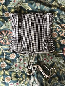What Katie Did 20 Inch Underbust Corset Gingham Waist Trainer Cottagecore