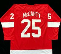 Darren McCarty Signed Autographed Red Hockey Jersey JSA Detroit Red Wings Great