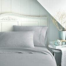 UK Bedding Collection - All Sizes UK 1000 TC Egyptian Cotton Light Grey Solid
