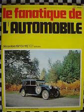 rare FANATIQUE AUTO n°111 CITROEN SM / DARRACQ / CARROSSERIE / SENECHAL CYCLECAR