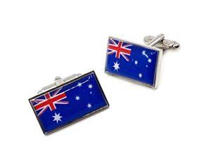 Australian Flag Cufflinks, business, Aussie, Flags, weddings, tourist