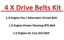 TOYOTA 4RUNNER / Surf ln107 / LN130 RHD VENTOLA motore / alternatore + ps+ac DRIVE BELT 88 +