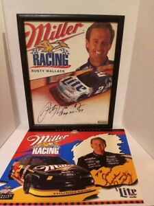 *SIGNED* Rusty Wallace Picture and Poster Card!!
