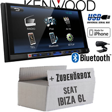 Seat Ibiza 6 L KENWOOD Bluetooth USB mp3 7' TFT Autoradio Voiture Voiture Kit De Montage Radio