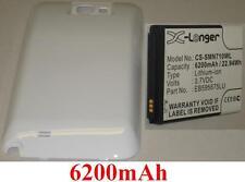 Carcasa Blanco + Batería 6200mAh tipo EB595675LU Para SAMSUNG Galaxy Note 2