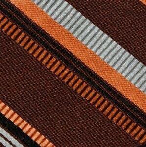Bow Tie Men Silk Brown Orange Stripe SELF TIE Bowtie