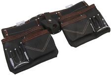 PTI Oil Tan Leather Carpenter Builder Tool Belt Non Adjustable Pouches Pockets