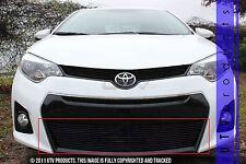 GTG 2014 - 2016 Toyota Corolla S 1PC Gloss Black Overlay Bumper Billet Grille