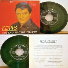 "King ELVIS Presley ""CRYING IN THE CHAPEL"" + 3 Original SPAIN GOSPEL EP With P/S!"