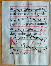 Original Blatt Manuskript Antiphonarium Pergament Folio (B) - 1550