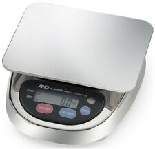A&D HL-3000LWPN Washdown Stainless Steel Compact Portion Scale 3000x1g,NTEP,New