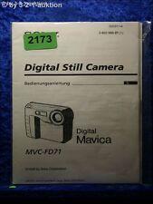 Sony Bedienungsanleitung MVC FD71 Mavica Digital Still Camera (#2173)