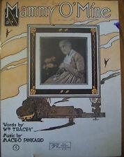 "1919 ""Mammy O' Mine"" Vintage sheet music"