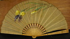Large éventail vers 1900  Fan Faecher Ventaglio abanico 风扇