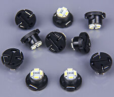 10x White T5 Neo Wedge LED Bulb Cluster Instrument Dash Climate Base Light Lamps