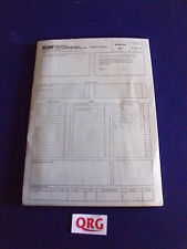 RELIANT SCIMITAR SS1 1.3 , 1.6 ORDER FORM