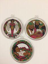Jesus Nativity 3 Ornaments Black Americana African American Angel Christmas