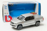 Volkswagen Amarok in silver, Bburago 18-30232, scale 1:43, toy car model gift