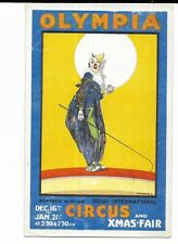Advertising Postcard - Clown, Bertram Mills Circus, Olympia, London.