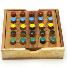 FIVE DIFFERENT WOODEN BOARD GAME