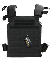 Spartan Plate Carrier - Black Lightweight Plate Carrier with MOLLE Platform