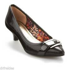 8e79dcdaae6 Anne Klein Akmuriele Women s Black Kitten Heel Pump W buckle ...